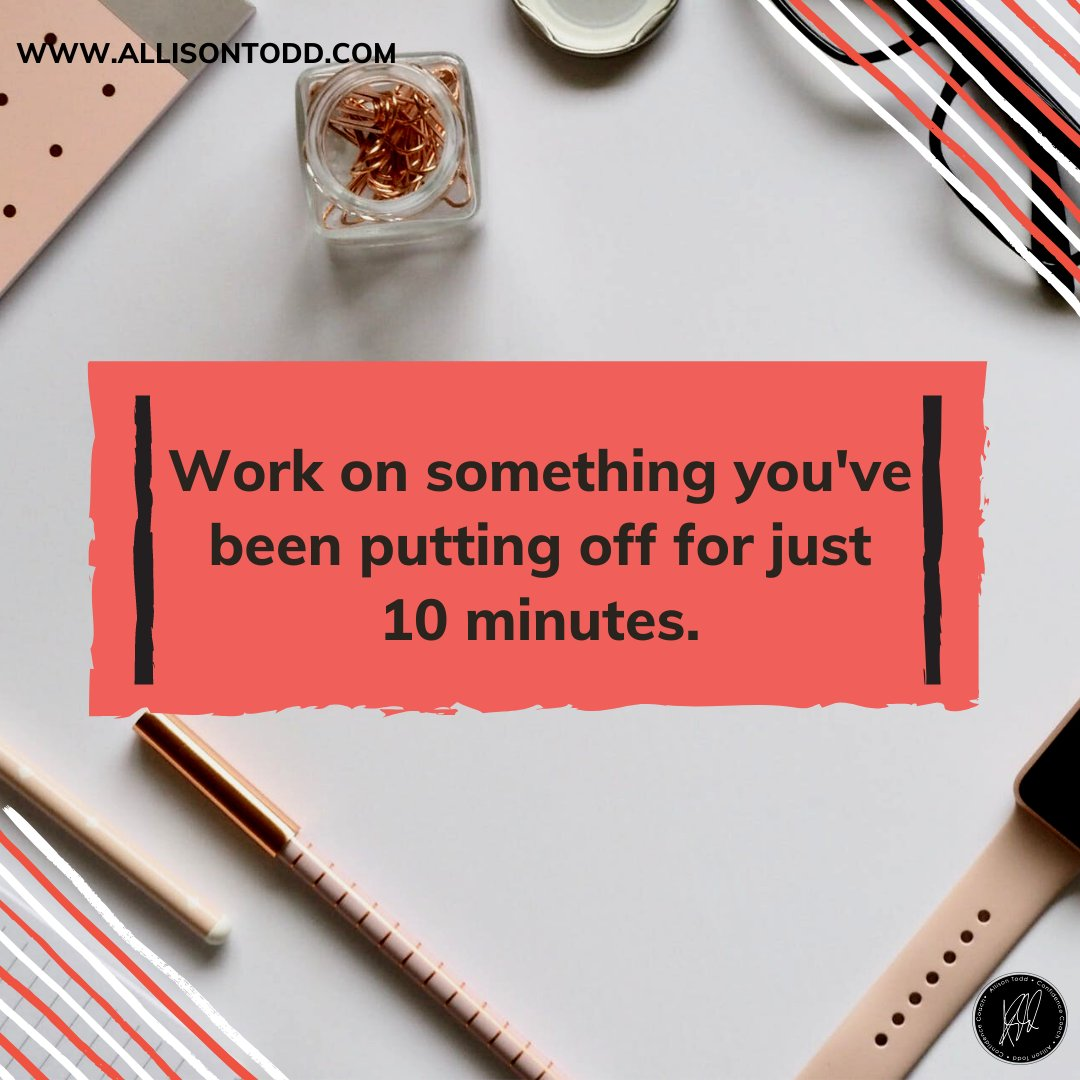 Working on tasks for short bursts of time lessens the feeling of overwhelm. You're less likely to procrastinate and you may just get it done finally!⁣ ⁣A Tuesday tip!⁣  #womeninbusiness #ladyboss #workfromhome #AllisonTodd #confidencecoach #Learn2Love #confidenceiskey pic.twitter.com/Ppzecl6aGm