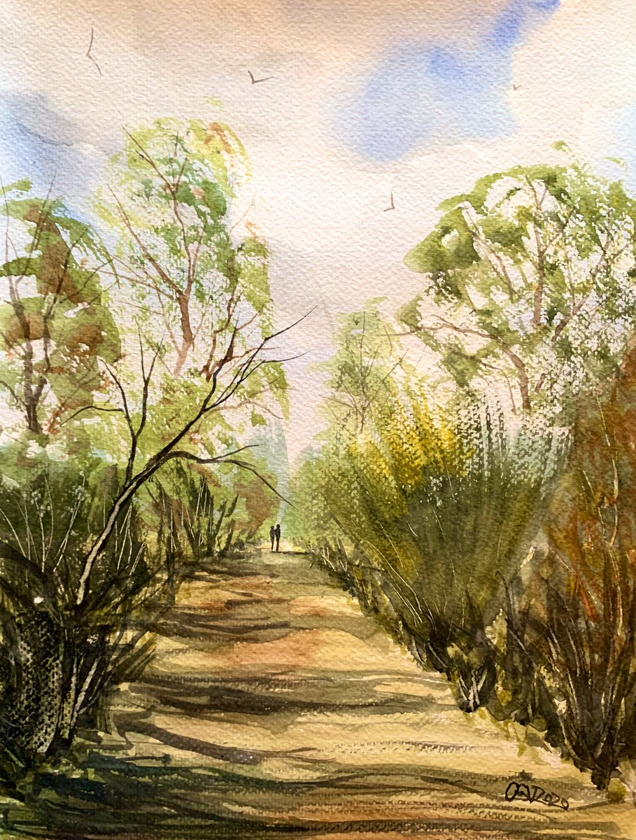 Through the trees. #watercolour #art #impressionism Click for full image.pic.twitter.com/JnOczG9dRW
