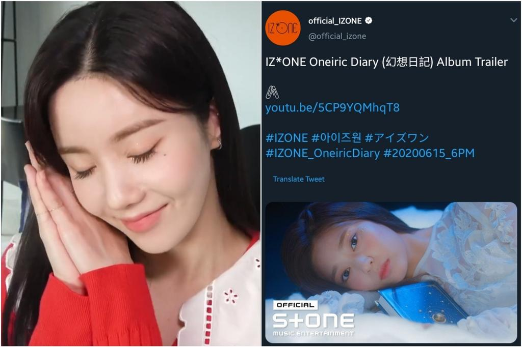 IG Story Spoilers:  05/31 - Eunbi - Sleeping gestures  ONEIRIC DIARY Album Trailer 06/01 - Sakura - I like games, but what about the other members?  Object teaser 06/02 - Hyewon - Gummy bear  ???   <br>http://pic.twitter.com/Cca0vS8LyS