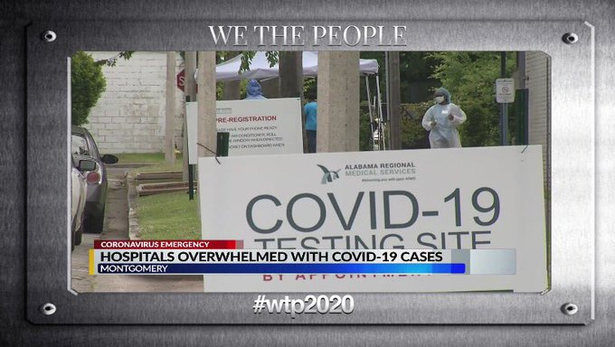 """Montgomery, AL – pop 198K """"Right now, if you are from Montgomery, and you need an ICU bed, you are in trouble."""" – Mayor Steven Reed Trump Era pandemic. #Healthcare4All #wtp2020 @wtp__2020 #wtp335"""