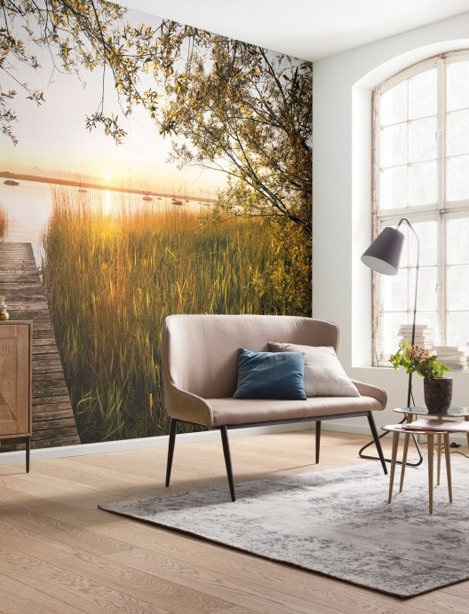 Komar | Scenic wallpapers are perfect for adding an eye-catching scene to your living room!#ngcnafees #wallsfloorsfabrics #walls #wallpaper #mural #photomural #komar #residentialwallcovering #residential #interiordesign #interiordesigner #interiordesigndubai #interirodesignindia