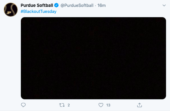 College softball programs around the country are participating in #BlackoutTuesday to protest racial injustice.