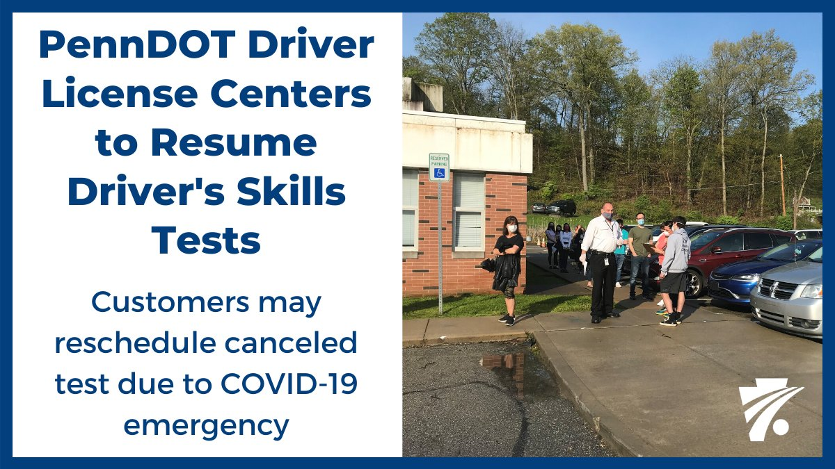 Beginning today, driver's skills tests (including motorcycle skills tests) will resume at reopened Driver License Centers. COVID-19 safety protocols are in place to protect staff and customers while maintaining the integrity of the test. Details ➡️ https://t.co/ijr5JXoHrU https://t.co/f3zEUFTWyB