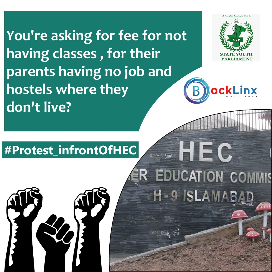 Not everyone is blessed with gadgets and technology. Think about those who cant afford it . Stop online classes. @HamailEjaz @BacklinxPak @SypUniCouncil @vpp_pk #Protest_InfrontOfHEC