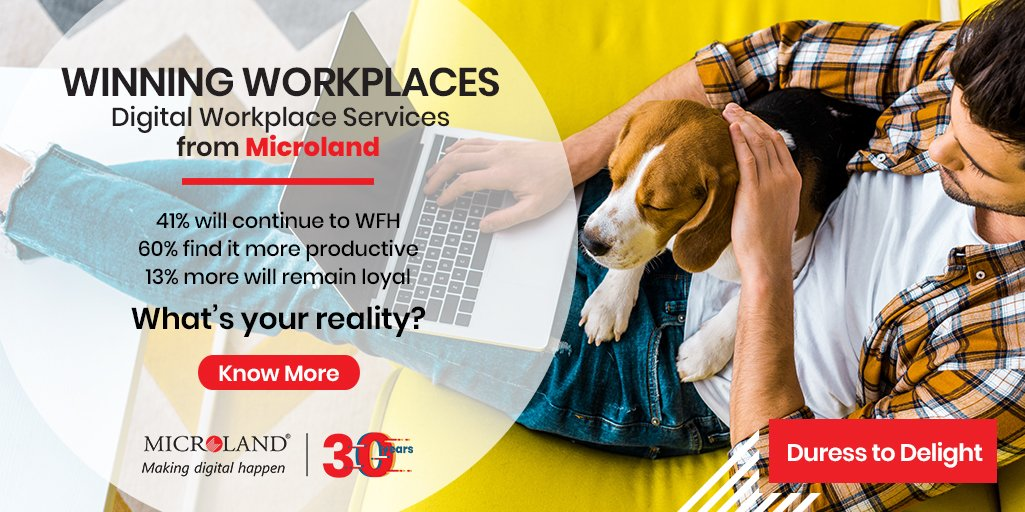 In the #Newnormal, the world moves from the doubtful duress of reliable, stable & secure connectivity to the delight of total remote access - Our Digital Workplace Services will make it happen! https://bit.ly/MLDWS2020  #workfromhome #remotework #wfh #covid19 #WinningWorkplacespic.twitter.com/vBtPmOS3mQ