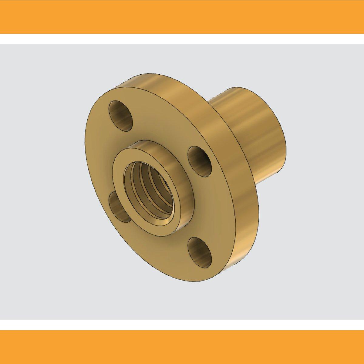 Leadscrew Nuts per il progetto CNC. #cnc #diy #fusion #fusion360 #autodesk #3Dprint #adskfusion360 #3Dparts #fusion360cam #homemadecnc #cnchomemade @adskFusion360