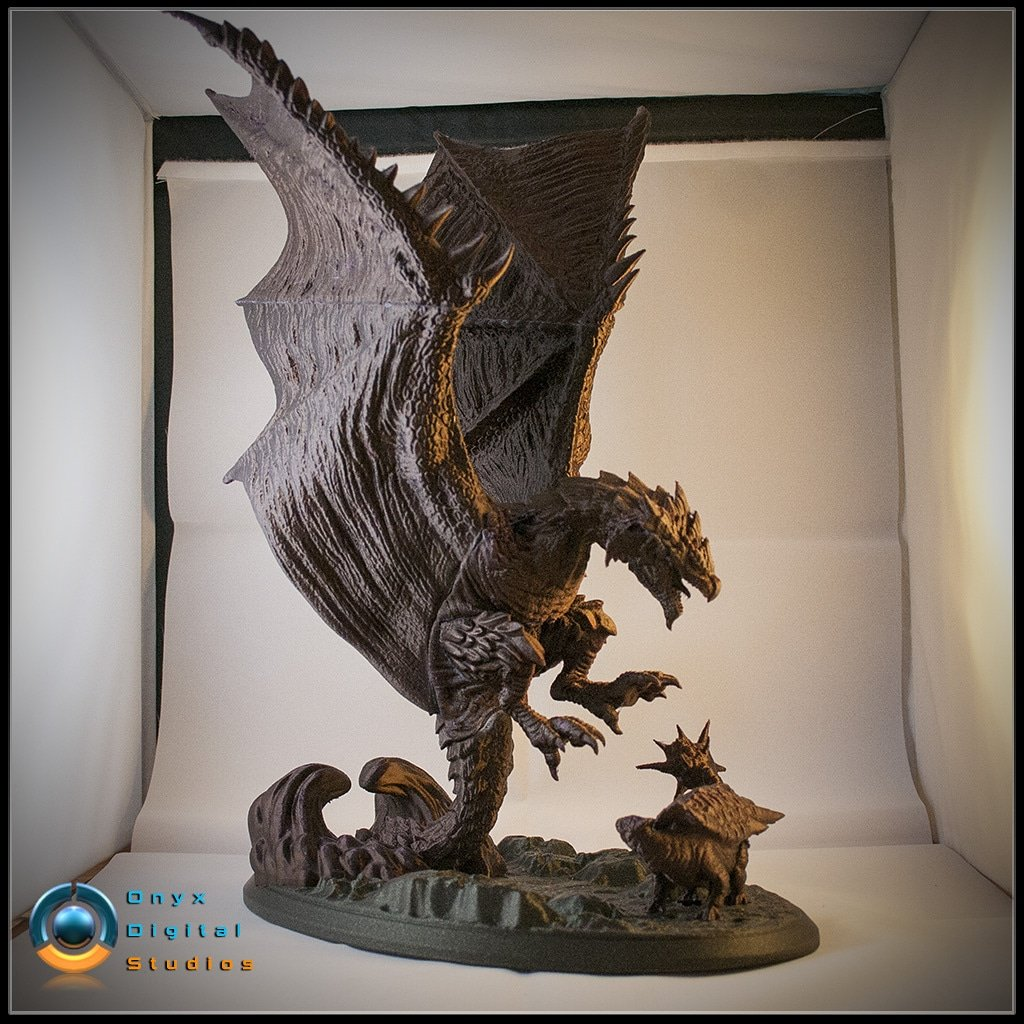 Epic model, ready to 3D print. Rathalos, designed by Onyx Digital Studios. Check out the album for details:  #PrototypeBay #3Dprinting #3Dprinted #3dprint