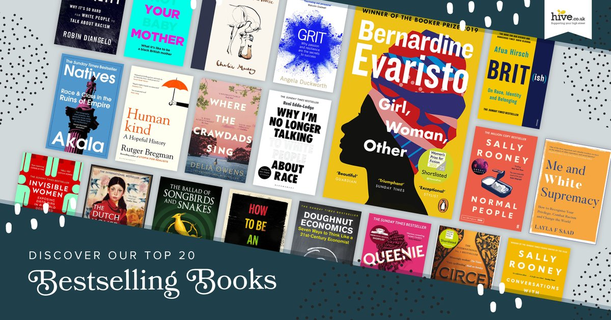 The @hivestores #BestsellingBooks Top 20 has been updated and features @BernardineEvari at #No1, plus @renireni @ccriadoperez Sally Rooney, Layla F. Saad, & more great authors! 🌟  Discover the #Top20 & support an #indiebookshop while shopping online: https://t.co/UpKzRBuFDx https://t.co/CoqC5gHoaL