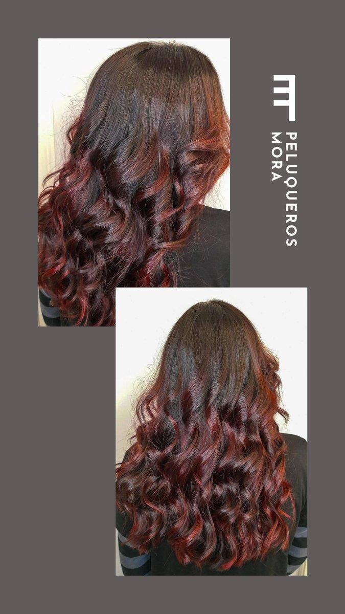 #Balayage Rojas 😍🆒💥  @PeluquerosMora  #PeluquerosMora #Leganés #peluquería #hairstyle #hair #beauty #hairdresser