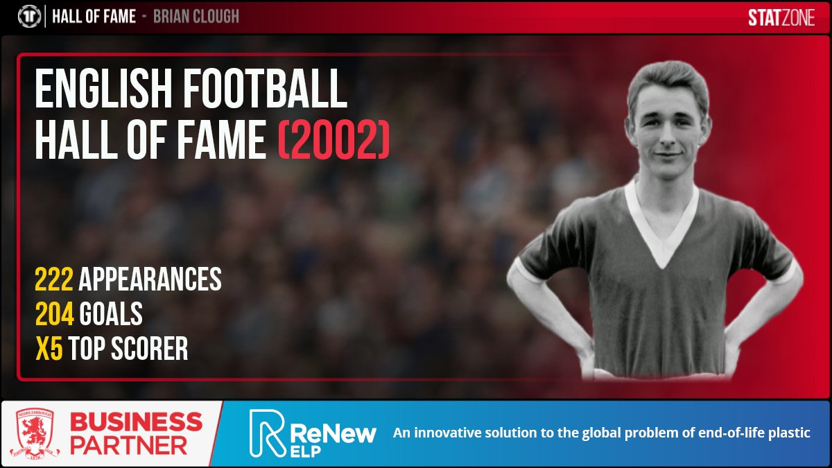💭 Today we are taking a look at the #Boro players that have been inducted into the English Football Hall of Fame.   We start with Brian Clough, who was the club's top scorer for five seasons in a row. 🔥 #EFL @ReNewELP https://t.co/pKuNBoMYBk