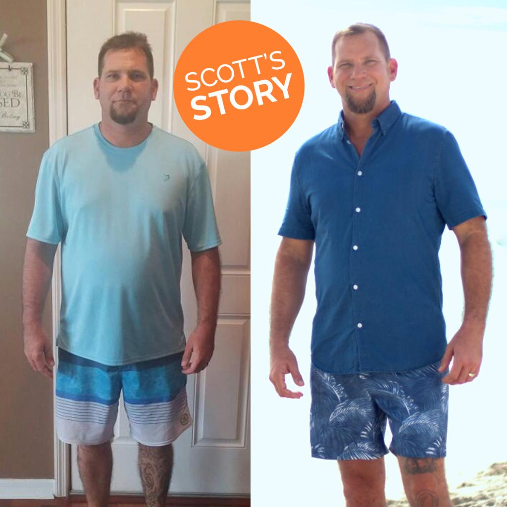 Like if you think Scott is the picture of health. #TransformationTuesday #WeightLossSuccessStory *Expect to lose up to 1-2 lbs. per week.