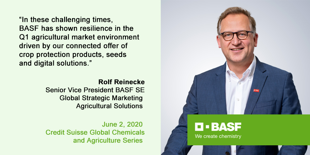 Today, Rolf Reinecke joins the Credit Suisse Global Chemicals & Agriculture Series hosted by @CreditSuisse   #VirtualConference #CreditSuisse https://t.co/crKPqFBw4A