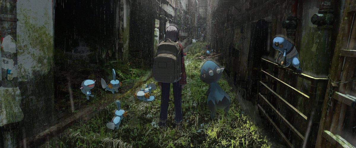 ポケモンと廃墟探索。