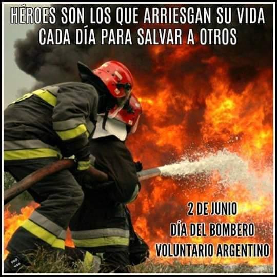 #Hoy 2 junio dia del bombero Argentino🇦🇷 #DiaDelBomberoVoluntario. 🚒 Un gran saludo y reconocimiento a todos ellos  #Chubut #Trelew #PuertoMadryn #Dolavon #Esquel https://t.co/8ZukE36dCP