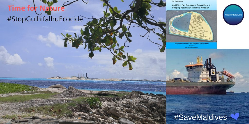 #TimeForNature But in @BoskalisWessie language - it's always time to dig up & destroy nature. #HappeningNow in #Maldives.  View from #Villimale today.  @presidencymv @DutchMFA @tanjagonggrijp @UNFCCC @UNEP_Europe @PEspinosaC #StopGulhifalhuEcocide  #StopBoskalis #SaveMaldives 🌊 https://t.co/lk7MtgtQoJ