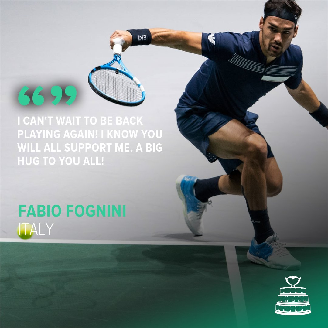 Wishing Italy's @fabiofogna a speedy recovery from injury!  We can't wait to see him back playing again 💪  #DavisCup https://t.co/G6gfgBkEIF