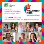 Image for the Tweet beginning: It's #VolunteersWeek and we're celebrating