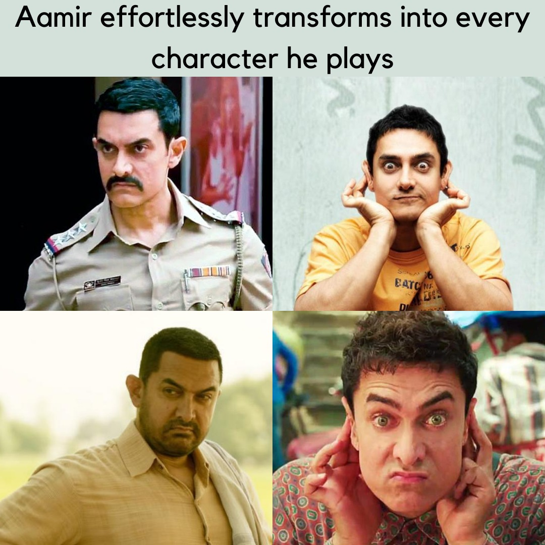 He really does .. @aamir_khan  #AamirKhan #perfectionist  #bollywoodmovies pic.twitter.com/hOI2TKN5C0