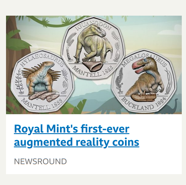 Augmented reality coins?  Nope, the augmented reality is from the packaging. pic.twitter.com/SZQ7qXPuaf