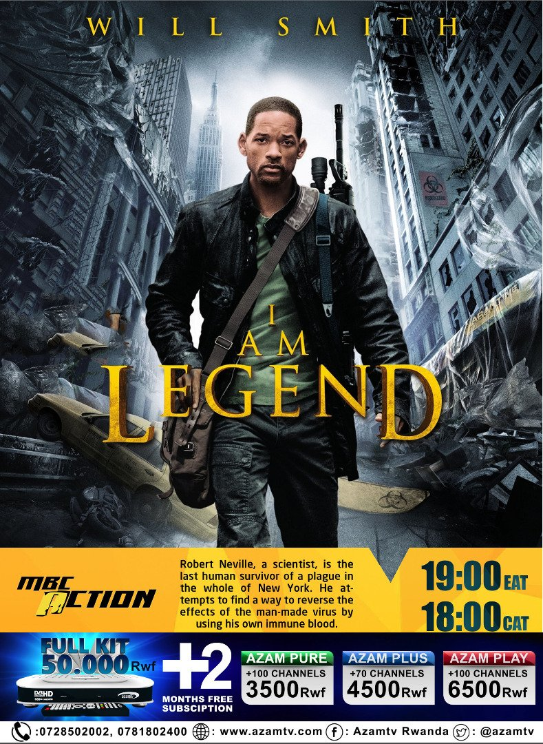 #ActionMovie: I'M LEGEND @mbcaction   #BollywoodMovies of Today @StarGoldpic.twitter.com/uvZ91AlxS2