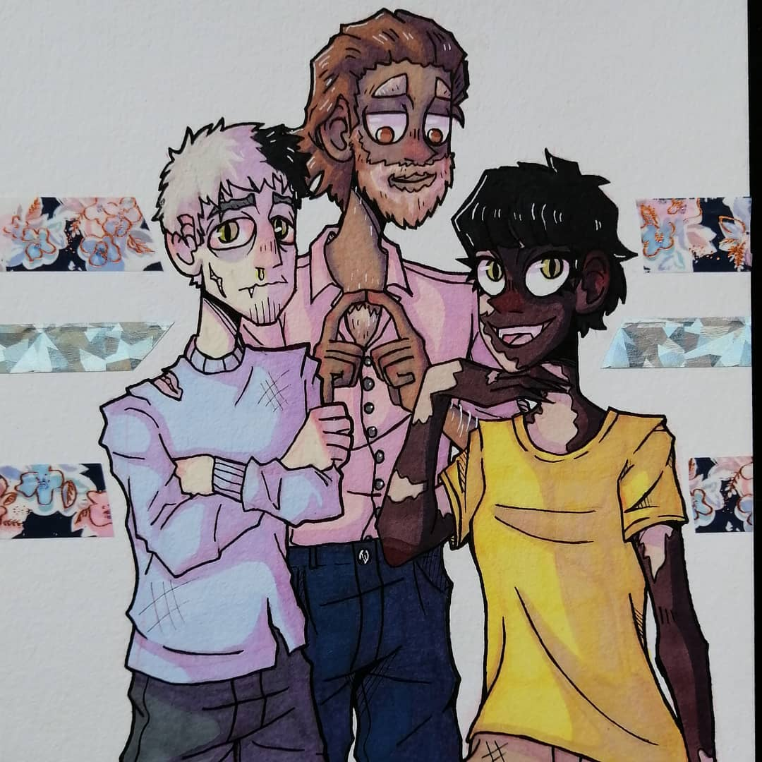 I drew my pets as humans bc why not ✩ #originalcharacter #characterdesign #art #artist #traditionalart #illustration #sketchbook #ArtistOnTwitterpic.twitter.com/9l6FN6SY03