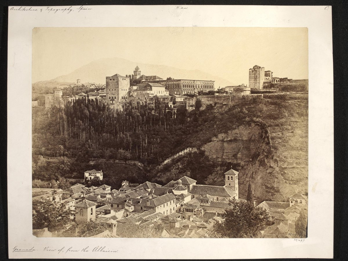 #Ciudades españolas en el #sigloXIX #View of #Granada, ca. 1860 Clifford, Charles, born 1821 - died 1863 © Victoria and Albert Museum, London @V_and_A #picoftheday #PictureOfTheDay #photooftheday #Photography #photo #arte #Spain
