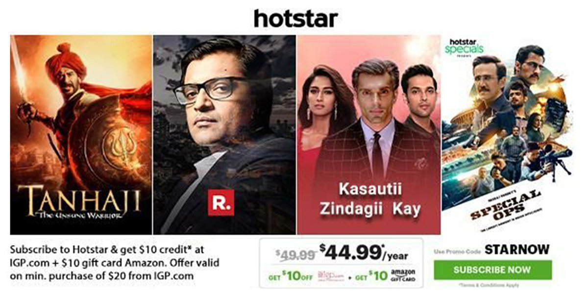 Download #Hotstar App today and get crazy #deal at never heard prices Available in #English #Hindi #Malayalam #Tamil #Telugu #Kannada #Bengali and #Marathi #Discount #BollywoodMovies #Cricket #Promocodepic.twitter.com/4r2cO1XucT