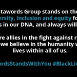 Image for the Tweet beginning: #DatawordsStandsWithYou #BlackLivesMatter