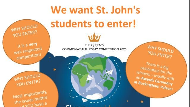 We're encouraging all @StJohnsMarlb students to enter the Queen's Commonwealth Essay Writing competition. Read more here: https://t.co/7wCXAKMqil