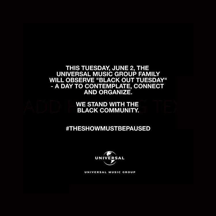 🖤 #theshowmustbepaused #blackouttuesday https://t.co/tUyq8mvA3Z
