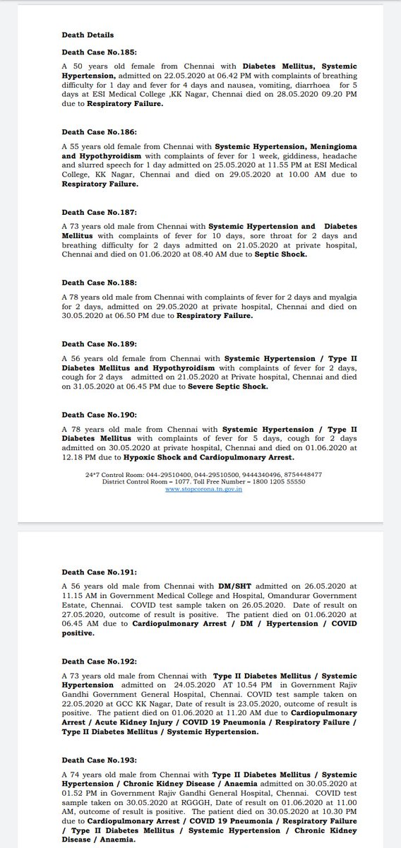 Details of the 13 #Covid19 deaths reported in #TamilNadu today pic.twitter.com/vxIdgvdzNo