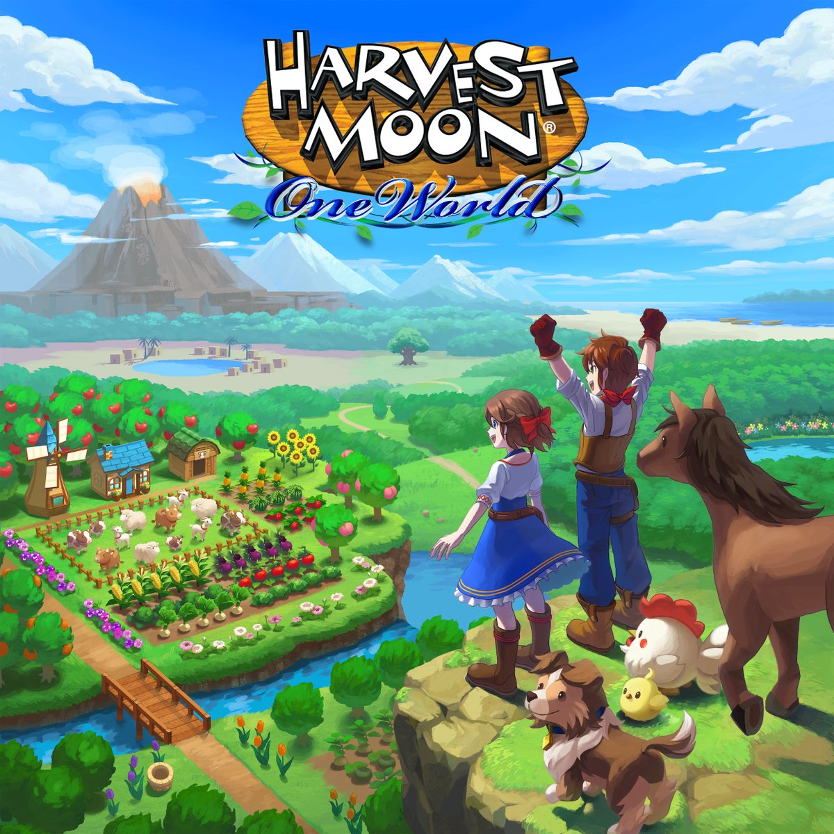 Replying to @RisingStarGames: Sharing this lovely piece of art from #HarvestMoon: One World!  What game art makes you smile?