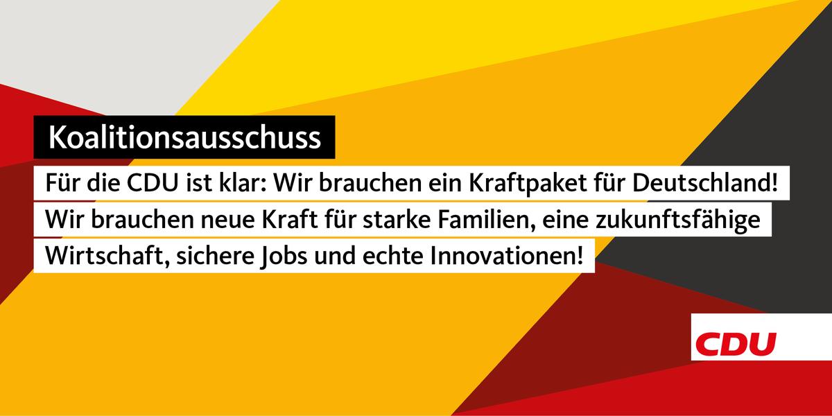 Ein #Kraftpaket für starke Familien, eine zukunftsfähige Wirtschaft, sichere Jobs und echte Innovationen darf kein Schnellschuss sein. Es geht um die Zukunft Deutschlands. #Corona #Koalitionsausschuss 👇 https://t.co/xXd4co40mz https://t.co/8SBYhv9TeD