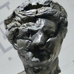 Image for the Tweet beginning: This crumpled silver #portrait of