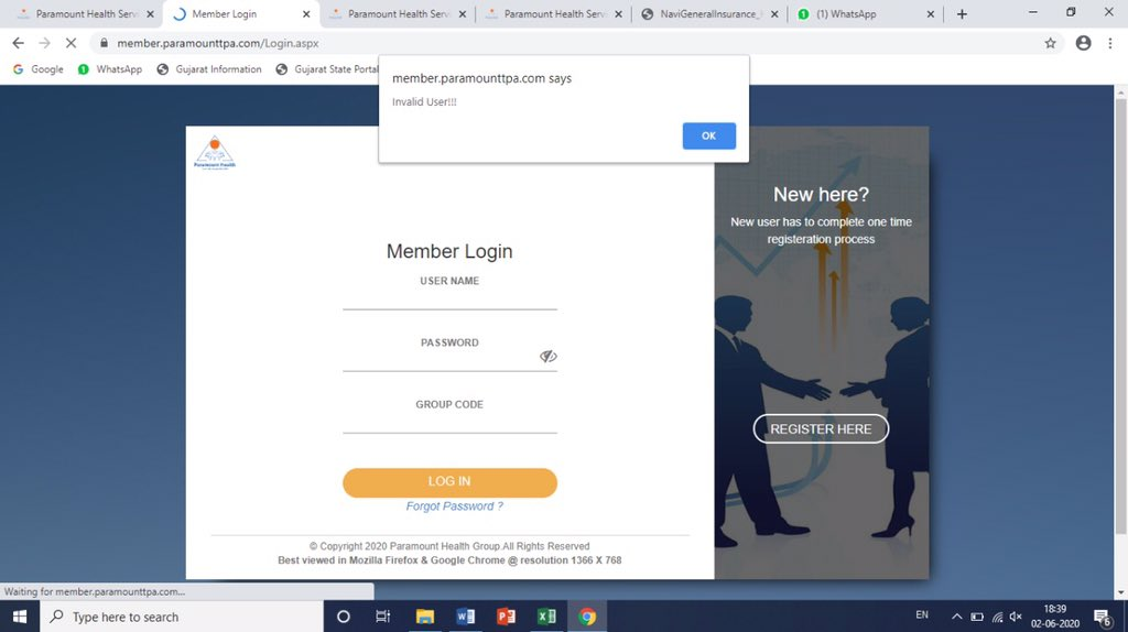 Not able to Register/Login my member login with Paramount Health services TPA web portal.. Due to this i am not able to submit my health claim online. Support me ASAP. Snap attached for reference @phm_healthcarepic.twitter.com/2aZa9hmf2I