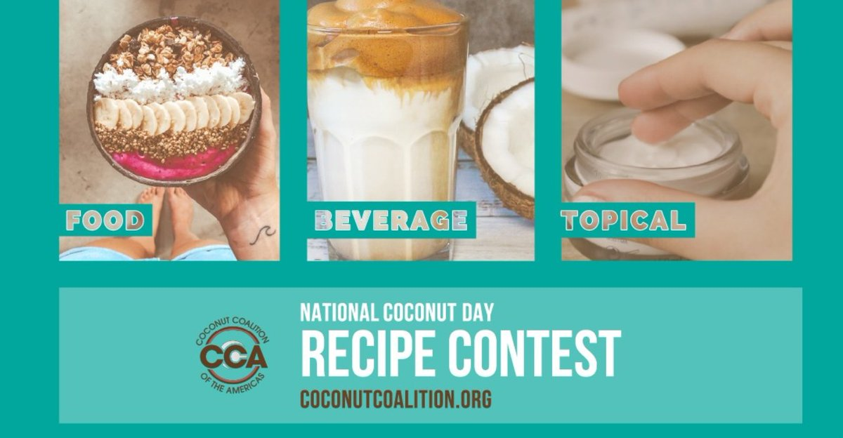 T-Minus 24 Days...NATIONAL COCONUT DAY JUNE 26TH!!! Enter into the #coconut #recipe #contest. Fun for the entire #family. https://coconutcoalition.org/national-coconut-day/contests/… #gococonutty #nationalcoconutday  #food #beverages #health #wellness #coconutoil #topical #beauty #funpic.twitter.com/kVpLhNMaXh