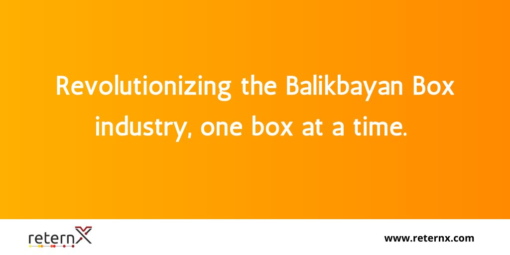 Merging a Filipino tradition with technology, reternX is revolutionizing the Balikbayan Box industry - one box at a time! #BalikbayanBox #Software #DigitalTransformationpic.twitter.com/VHhNTdjSVV