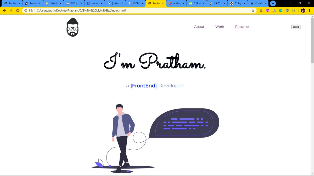 #100DaysOfCode   I am working on a simple portfolio using html and CSS only I'm trying to keep the code as simple as possible and avoid using those complex CSS property Still a lot of work left  #CodeNewbie #CSS #HTML #webdesign #webdev <br>http://pic.twitter.com/Tt2VSEfuhU