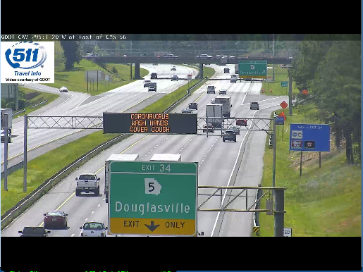 Image posted in Tweet made by 511 - A Service of Georgia DOT on June 2, 2020, 2:00 pm UTC