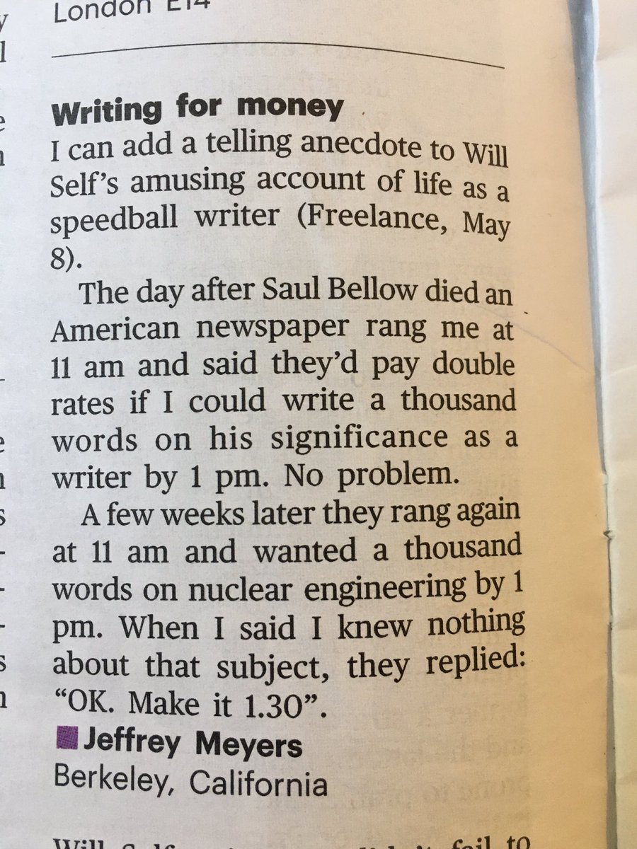 Very funny letter in the latest @TheTLS
