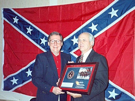 Senator Mitch McConnell (R-KY) with Confederate flag
