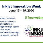 Image for the Tweet beginning: Inkjet Innovation Week – June