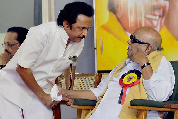 #Karunanidhi - Father Of Corruption  His Son @mkstalin - Father Of Confusion  Now His Son M.K.Stalin is trending everyday among #TamilNadu youngsters for his funniest speech and incapable political career.   #HBDFatherOfCorruption  #FatherofCorruption #UniversalThiefKarunanidhipic.twitter.com/o1QztUNetP