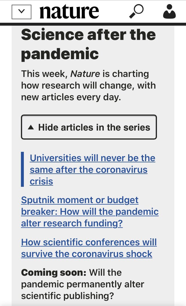 Universities will never be the same after the #coronavirus crisis - the first in our series on the post #Covid_19 future of science  https://t.co/AR66BLXVIe https://t.co/WOZB9jXnFy