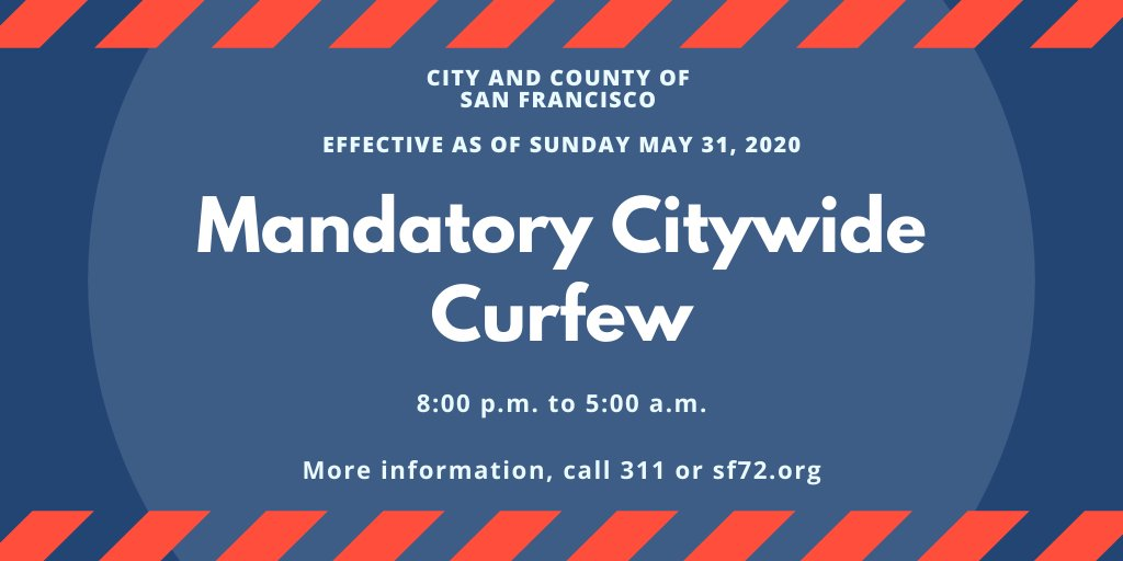 #SFO remains open during San Francisco's curfew. Passengers and employees can travel to/from the airport. Taxis and app-based rides will be available, or you may get picked up or dropped off. Please give plenty of time before flights and plan accordingly.
