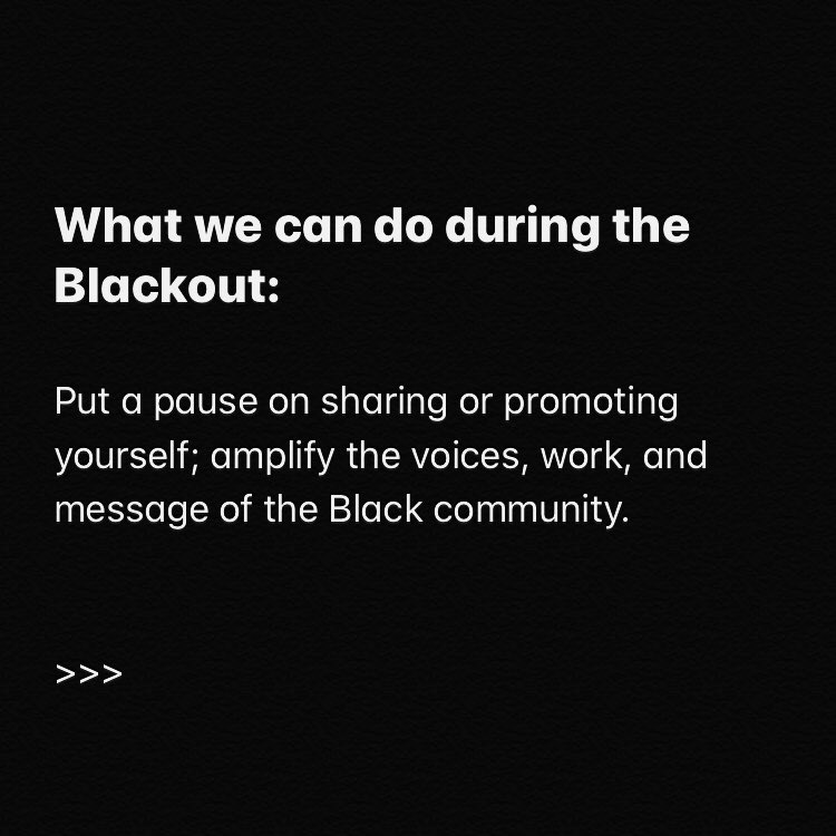 Together we stand, divided we fall. Some action items for today's #BlackoutTuesday. https://t.co/8Lfm8dCoUu