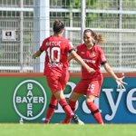 Image for the Tweet beginning: Die #Bayer04Frauen stehen im Pokal-Halbfinale!  3:2