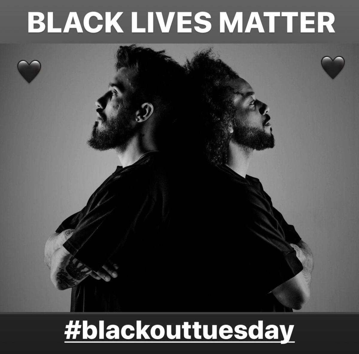 BLACK LIVES MATTER 🖤🖤🖤  #blackouttuesday