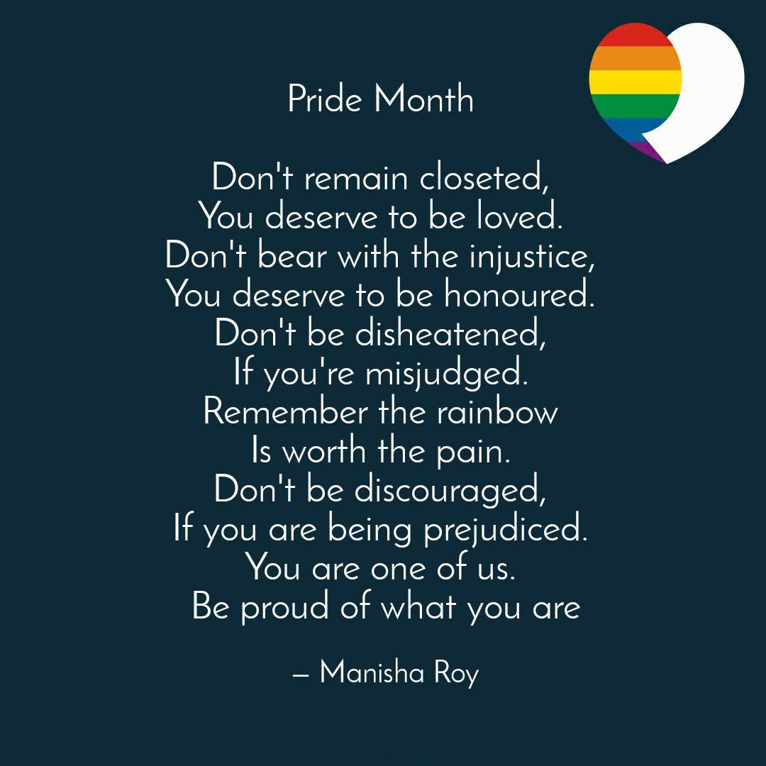 #LGBTQ #kolkatadiaries #PrideMonth #PRIDE2020 #WritingCommunity #Writer #WritersCafe #writerslife #Motivational #MotivationalQuotespic.twitter.com/p6HuAk0jvy