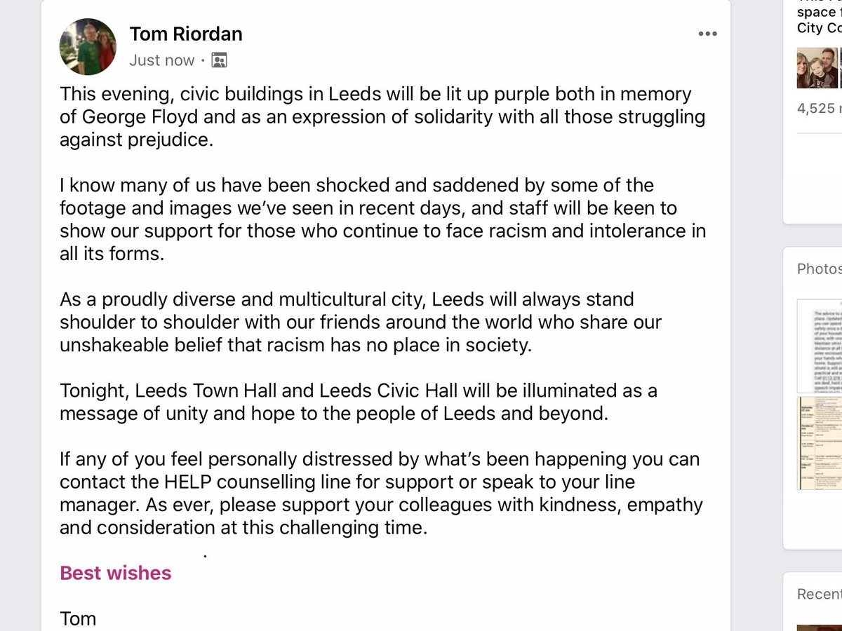 A personal message to ⁦@LeedsCC_News⁩ colleagues today https://t.co/o5SSQphn5u